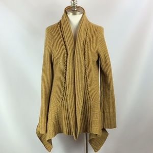 Anthro RARE Wool Blend Knit Cardigan Duster L